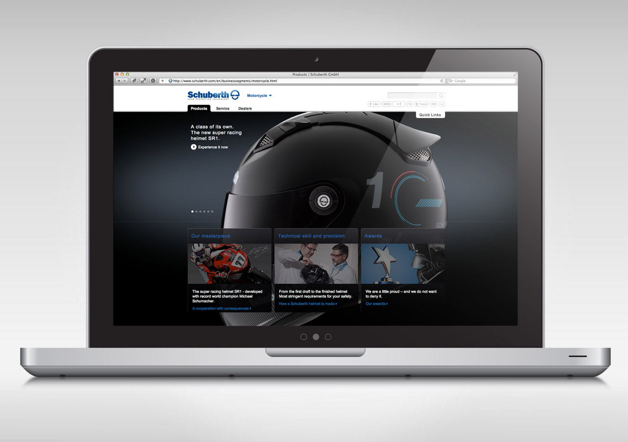 Schuberth Corporate Website