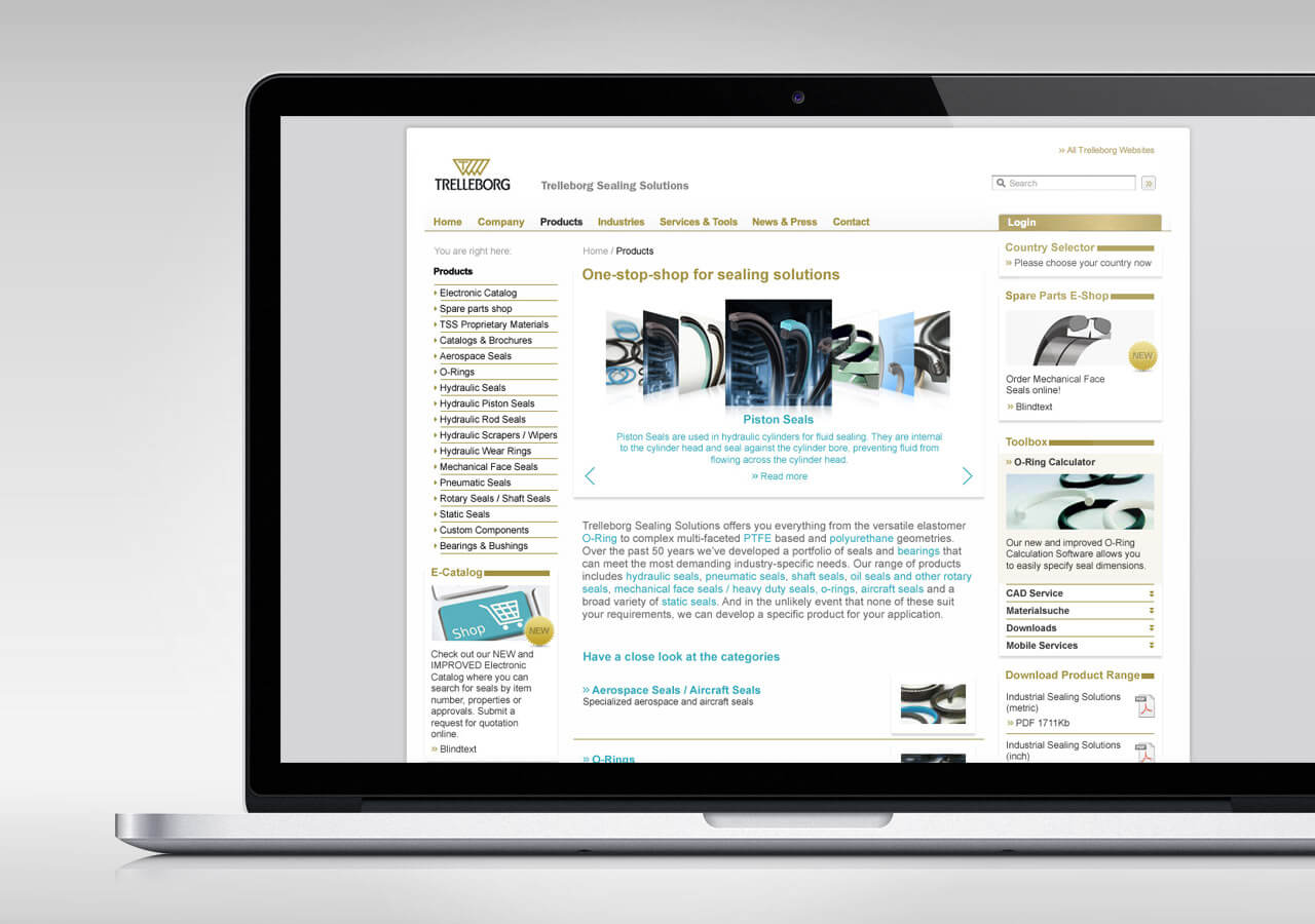 Trelleborg Sealing Solution Corporate Website